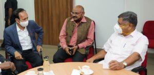 BBHA president P C Rao with Minister for Industries govt of Karnataka Sri Jagadish Shettar